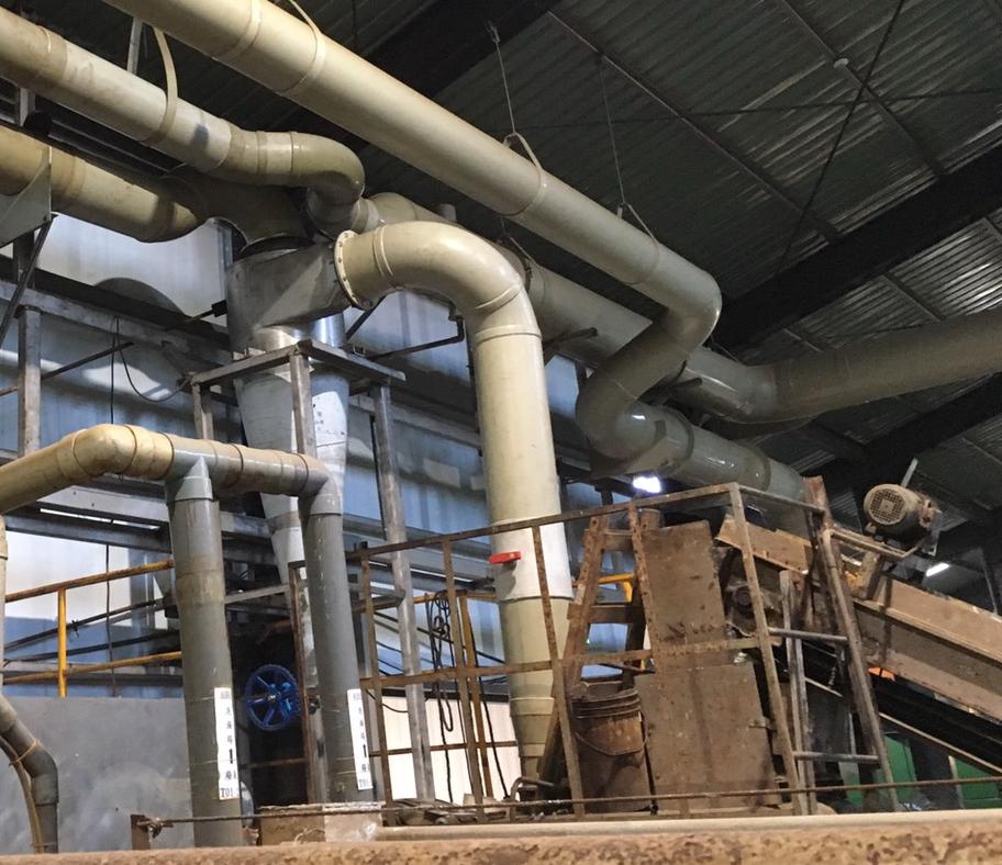 汙泥乾燥旋風式集塵機2019年8月完工