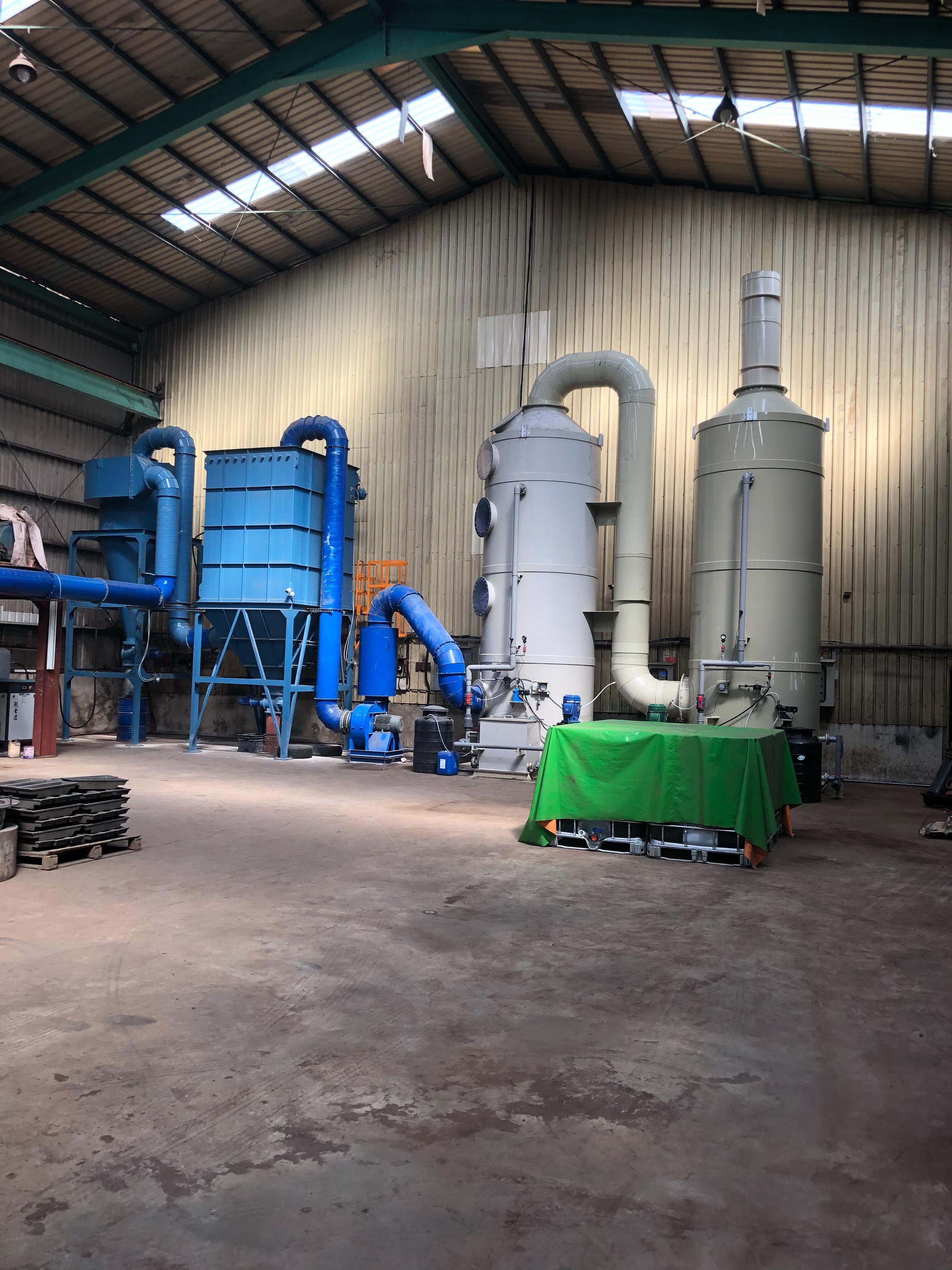 錫熔爐集塵廢氣處理工程2019年10月完工